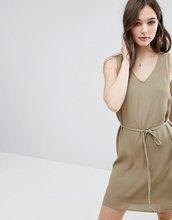 Vila | Цельнокройное платье без рукавов с V-образным вырезом Vila - Зеленый | Clouty