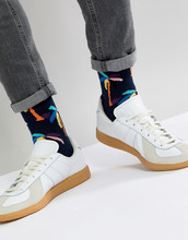 Happy Socks   Носки с принтом Happy Socks - Темно-синий   Clouty