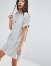 ASOS | Платье-футболка с отворотами на рукавах ASOS Ultimate - Серый | Clouty