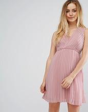 Vila | Плиссированное платье с запахом Vila - Розовый | Clouty