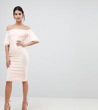 Vesper | Платье-футляр с оборками на рукавах и открытыми плечами Vesper | Clouty