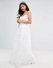 ASOS | Кружевное платье макси для выпускного с бантом ASOS BRIDAL - Белый | Clouty