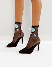 ASOS | Декорированные сетчатые носки ASOS - Черный | Clouty