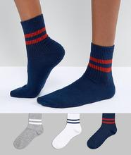ASOS | Набор из 3 пар носков ASOS - Мульти | Clouty