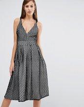 8th Sign | Кружевное приталенное платье миди с v-образным вырезом The 8th Sign | Clouty