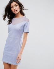 ASOS | Кружевное платье-футболка с вырезом сердечком ASOS - Синий | Clouty