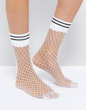ASOS | Белые сетчатые носки в полоску ASOS - Белый | Clouty