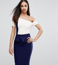 Vesper | Платье-футляр контрастной расцветки со складками-оригами Vesper | Clouty