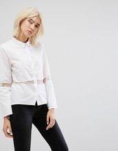 Noisy May | Рубашка с полупрозрачной вставкой Noisy May - Белый | Clouty