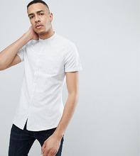 ASOS   Эластичная приталенная рубашка в полоску с воротником на пуговицах ASO   Clouty