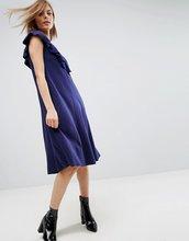 ASOS | Платье-футболка с оборками ASOS - Темно-синий | Clouty