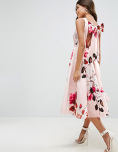 ASOS | Платье миди для выпускного с цветочным принтом и бантом на спине ASOS | Clouty