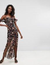 Boohoo | Платье макси с цветочным принтом Boohoo - Черный | Clouty