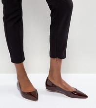 ASOS | Балетки с острым носком ASOS LATCH - Коричневый | Clouty