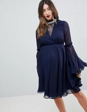 ASOS | Платье мини с расклешенными рукавами ASOS Maternity - Темно-синий | Clouty