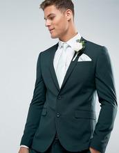 ASOS | Зеленый приталенный пиджак с принтом на подкладке ASOS Wedding | Clouty
