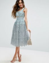 ASOS | Платье для выпускного с вышивкой ASOS - Синий | Clouty
