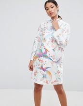 ASOS | Платье мини из тафты с вышитыми птицами ASOS Maternity - Мульти | Clouty