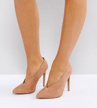 ASOS | Туфли для широкой стопы на высоком каблуке ASOS PRIORITY - Бежевый | Clouty