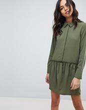 Vila | Платье-рубашка с заниженной талией Vila - Зеленый | Clouty