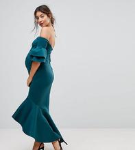 ASOS | Облегающее платье миди с оборкой на подоле ASOS Maternity PREMIUM | Clouty