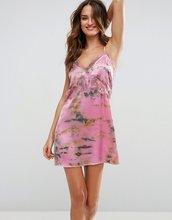 ASOS | Пляжное платье на бретельках с кружевной отделкой и принтом тай-дай AS | Clouty