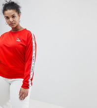 Puma | Красный свитшот с полосками по бокам Puma эксклюзивно для ASOS Plus | Clouty