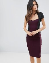 Vesper | Платье-футляр миди с короткими рукавами Vesper - Фиолетовый | Clouty