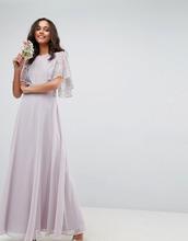 ASOS | Платье макси с кружевной аппликацией ASOS WEDDING - Мульти | Clouty