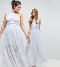 Coast | Платье-макси с завязками Coast Plus - Серебряный | Clouty