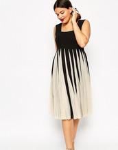 ASOS | Сетчатое платье с квадратной горловиной ASOS CURVE - Мульти | Clouty