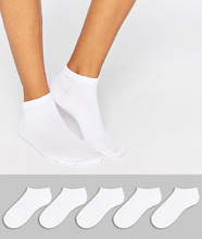 ASOS | 5 пар спортивных носков ASOS - Белый | Clouty