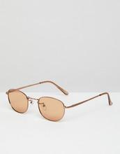 ASOS   Овальные солнцезащитные очки в стиле 90-х со светло-коричневыми стекла   Clouty