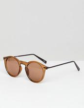 ASOS   Коричневые круглые солнцезащитные очки с металлическими дужками ASOS   Clouty