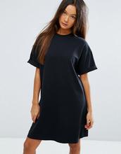 ASOS | Платье-футболка с отворотами на рукавах ASOS Ultimate - Черный | Clouty