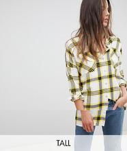 Noisy May | Oversize-рубашка в клетку Noisy May Tall - Розовый | Clouty