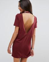 ASOS | Платье-футболка с глубоким V-образным вырезом на спине ASOS - Красный | Clouty