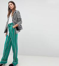 Y.A.S.   Широкие брюки в полоску Y.A.S Tall - Мульти   Clouty