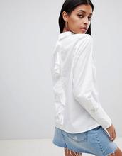 Noisy May | Рубашка с оборкой сзади Noisy May - Белый | Clouty