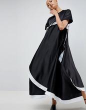 ASOS   Платье с асимметричным подолом ASOS WHITE - Черный   Clouty