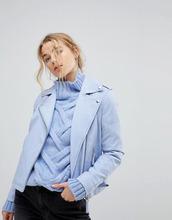 Miss Selfridge   Байкерская куртка из искусственной кожи Miss Selfridge - Синий   Clouty