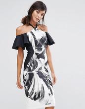 Coast | Цельнокройное платье-халтер Coast Waldorf - Мульти | Clouty