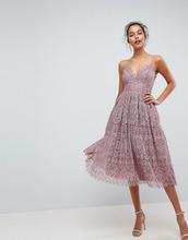 ASOS | Кружевное платье миди для выпускного ASOS - Фиолетовый | Clouty