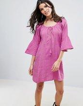Free People | Льняное платье Free People Fol Town - Фиолетовый | Clouty