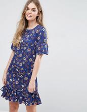 Vila | Цельнокройное платье с принтом и оборками на рукавах Vila | Clouty