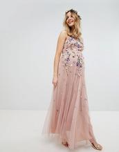 ASOS | Платье макси из сетки добби с цветочной отделкой ASOS MATERNITY WEDDIN | Clouty