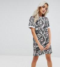 ASOS | Платье-футболка с цветочным принтом ASOS PETITE - Мульти | Clouty