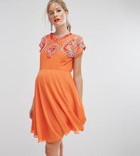 ASOS | Короткое приталенное платье с отделкой ASOS Maternity SALON | Clouty
