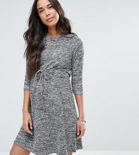 ASOS | Домашнее меланжевое платье для беременных со шнурком ASOS Maternity | Clouty