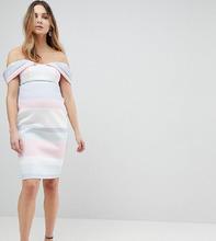 ASOS | Платье-футляр в пастельную полоску с открытыми плечами ASOS MATERNITY | Clouty